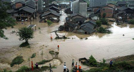 Kein Ende der Unwetter in China in Sicht.
