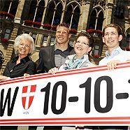 Parteiobfrau Christine Marek (Mitte) und ihr Team