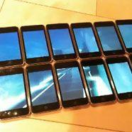 Zwölf iPods werden zum Breitbildschirm