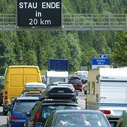 Urlauberreiseverkehr verursacht Stau auf Tauernautobahn