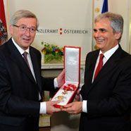 Hohe österreichische Auszeichnung für Luxemburgs Premier Juncker