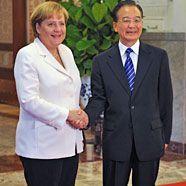 Bundeskanzlerin Merkel fordert von China weitere Marktöffnung