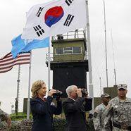 Clinton und Gates besuchen innerkoreanische Grenze