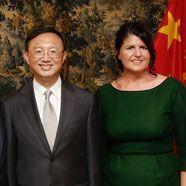 Werner Faymann trifft chinesischen Außenminister Jiechi Yang in Salzburg