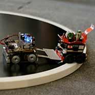 Das Roboter-Sumo wird eines der Highlights der Schau.