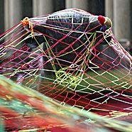 """""""Guerilla-Knitting"""" in Frankfurt"""