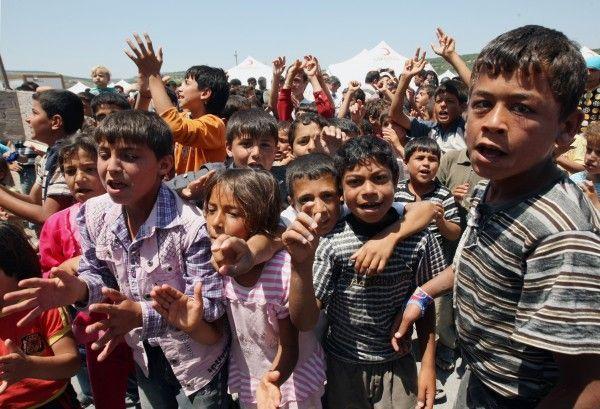 Uno syrische armee setzt kinder als menschliche schutzschilde ein