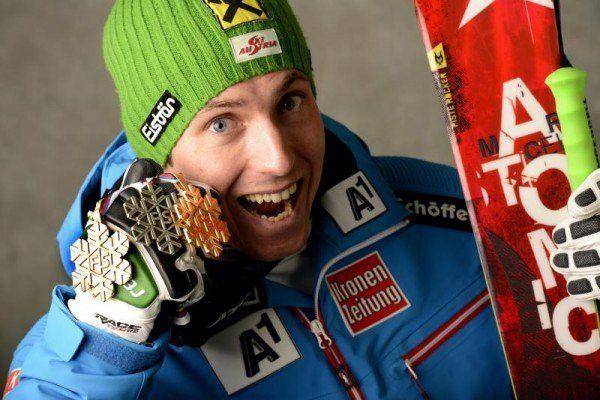 Hirscher freut sicher über drei Medaillen