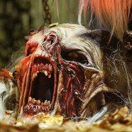 Gruselige fratzen krampusmaskenausstellung der rotzbuamteifin