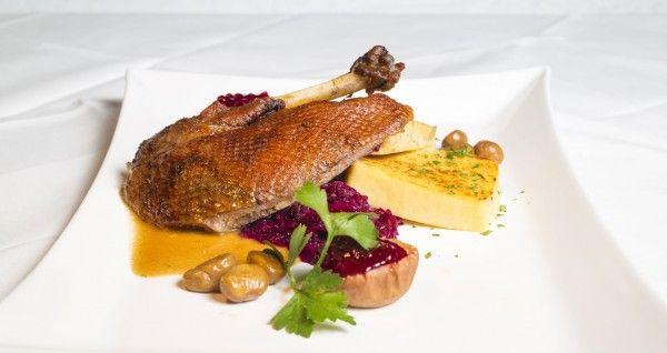 So appetitlich sieht das Martinigansl beispielsweise im Gmoakeller aus