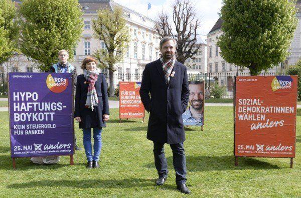 Martin Ehrenhauser bei der Plakatpräsentation am Donnerstag.