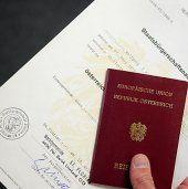 Vorarlberg: 2,9 Prozent weniger Einbürgerungen