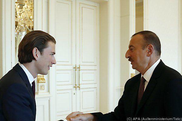 Kurz traf auch Präsident Aliyev