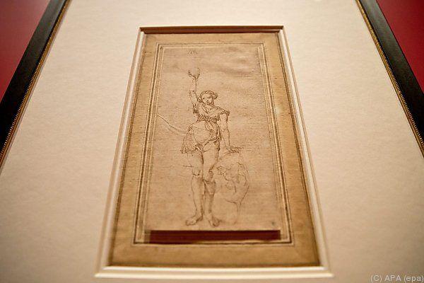 Zeichnung aus Privatbesitz in Nürnberg zu sehen