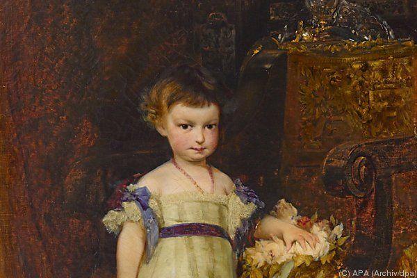 Porträt der Erzherzogin Marie Valerie als Kind