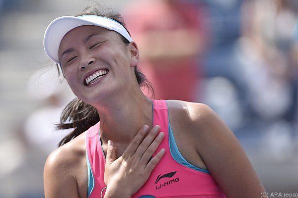 Peng Shuai überglücklich