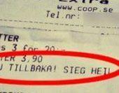 """Supermarkt druckt """"Sieg Heil"""" auf Kassenzettel"""