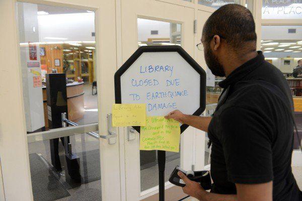 Die Bibliothek der Romig Middle School in Anchorage musste geschlossen werden