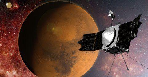 """Jubel bei der NASA: """"Maven"""" erreicht Mars-Umlaufbahn"""