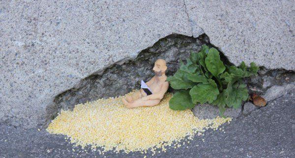 Es lohnt sich, am Straßenrand auf kleine Details zu achten.