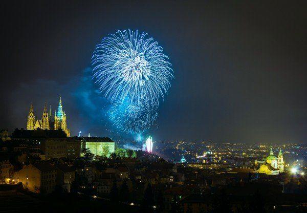 "(c) Roman Betik ""Fireworks in Prague 2014"""