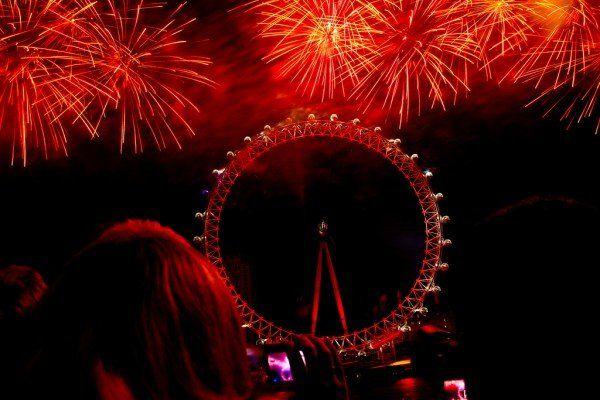 "(c) Natesh Ramasamy ""London Eye Fireworks – New Year's Eve"""