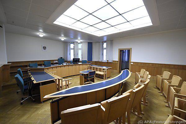Gerichtssaal im Wiener Straflandesgericht