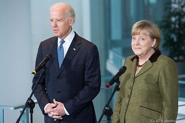 Biden und Merkel wollen zur Ukraine beraten