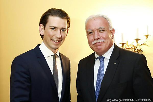 Außenminister Sebastian Kurz traf Riad al-Maliki