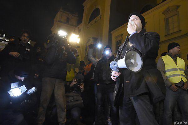 In Wien kamen ein paar 100 zur Pegida-Kundgebung
