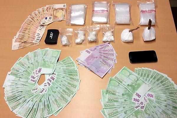 Suchtgift und Geldscheine im Wert von 10.000 Euro gefunden