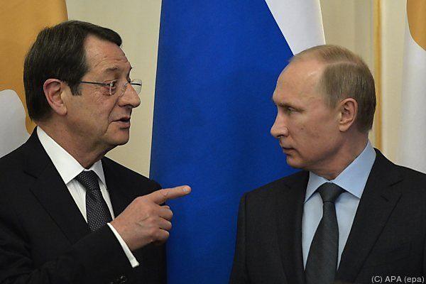 Zyperns Präsident Anastasiades bei Kremlchef Putin