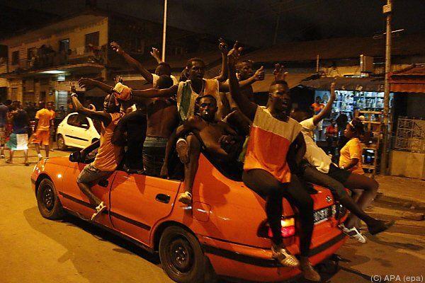 Riesige Begeisterung in Abidjan
