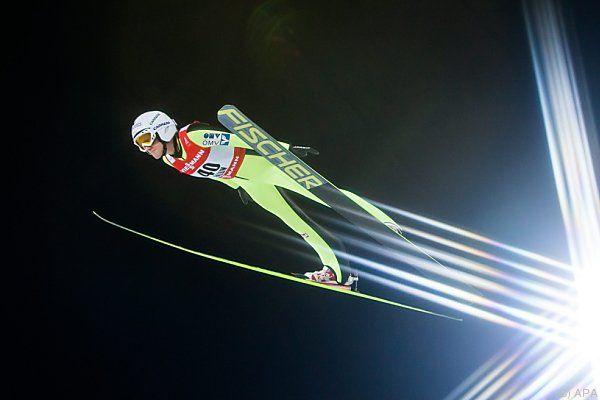 Daniela Iraschko-Stolz sprang auf Rang drei