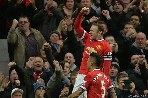 Doppelpack von Wayne Rooney für ManUnited