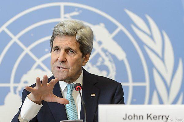 """Kerry: Noch """"ein langer Weg"""" bis zur einer Einigung"""
