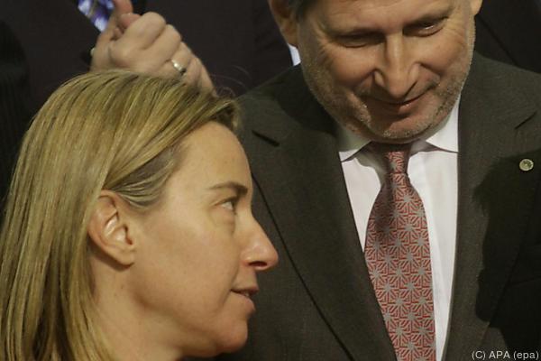 Mogherini und Hahn präsentieren neue Strategie