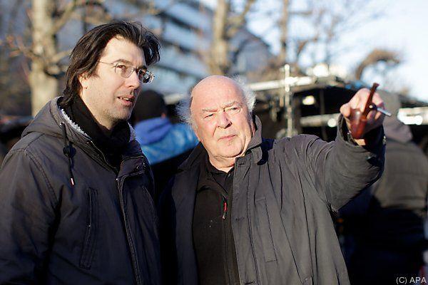 Regisseur Virgil Widrich und Christian Berger beim Dreh in Wien