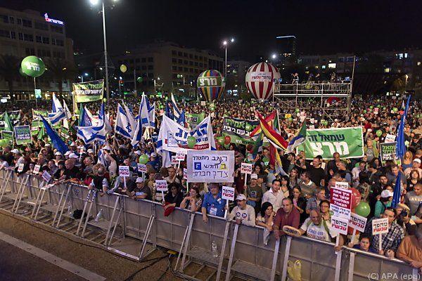 Protest gegen Politik von Regierungschef Netanyahu