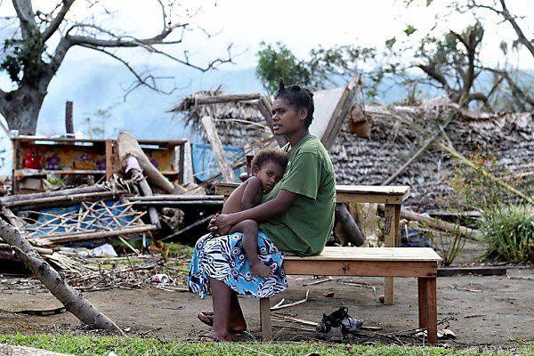 Bevölkerung des Pazifikstaates Vanuatu in Not
