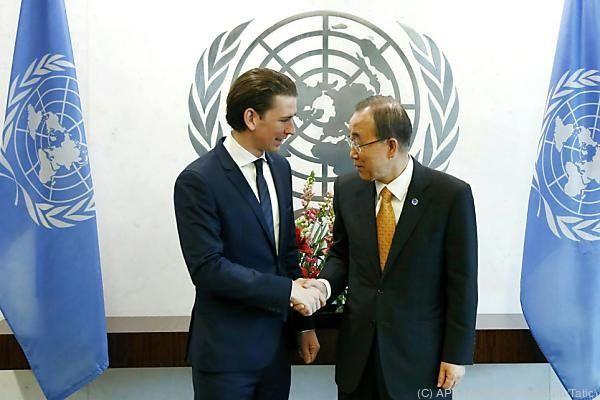 Außenminister Kurz bei der UNO in New York