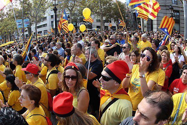 Viele Katalanen wollen von Spanien unabhängig sein