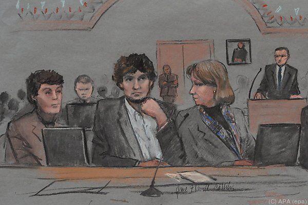 Gerichtszeichnung von Dzhokhar Tsarnaev