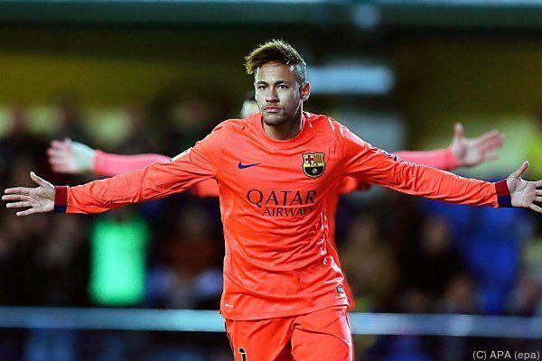 Neymar traf zum 1:0 für Barcelona