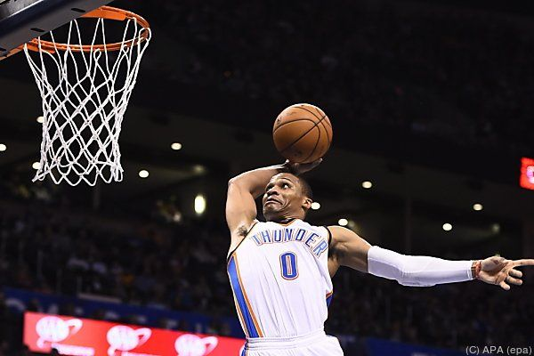 Oklahoma-Aufbauspieler Russell Westbrook in Aktion