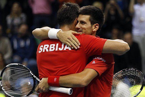 Djokovic bewies, dass er auch Doppel spielen kann