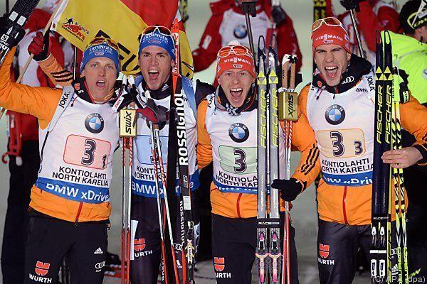 Deutschlands Herren-Staffel fixierte das Double