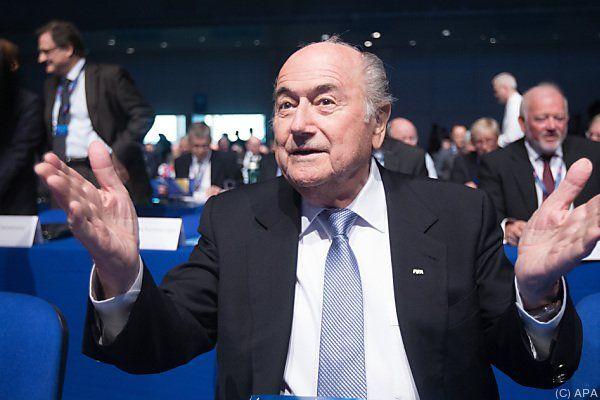 Sepp Blatter verzichtete auf Wahlkampfparolen