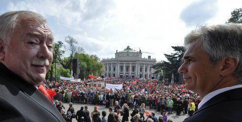 Wahlkampf beherrscht 1. Mai- Feierlichkeiten in ganz Österreich