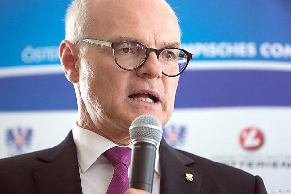 ÖOC-Präsident Stoss zeigte sich schwer getroffen